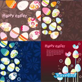 huevos de pascuas vectores1 - Coloridos Huevos de Pascuas en Vectores