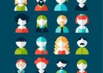 iconos de usuario en vectores - Vectores de Iconos de Personas con Estilo PLano