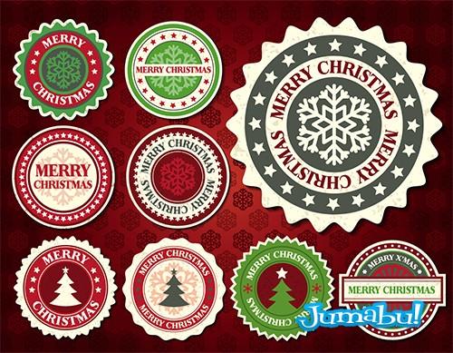 iconos inserts logos navidad - Etiquetas Vectorizadas con Motivos Navideños
