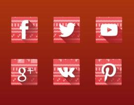 iconos navidenos redes sociales - Iconos de Redes Sociales con Estilos Navideños