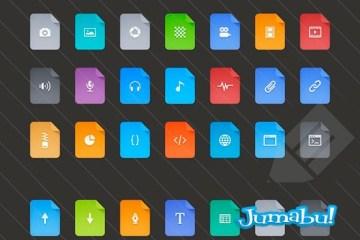 iconos planos  - Iconos Planos en Formato PSD