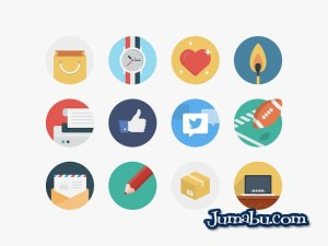 iconos redondos vectores - Iconos Circulares con Estilo Flat en Vectores para Descargar