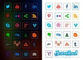 iconos sociales lineales vector - 24 Iconos Sociales Lineales en Vectores