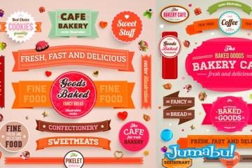 imagen corporativa cafeteria vectorizada - Material para Trabajar en la Estética de un Café