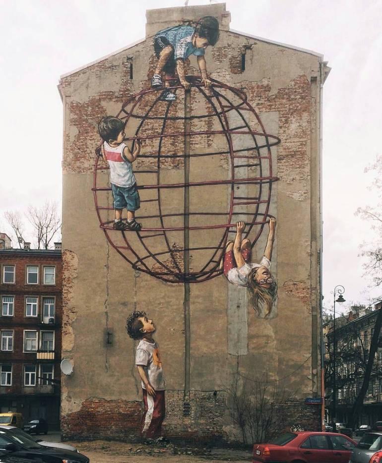 intervenciones-via-publica-grafiti-ninos-jugando