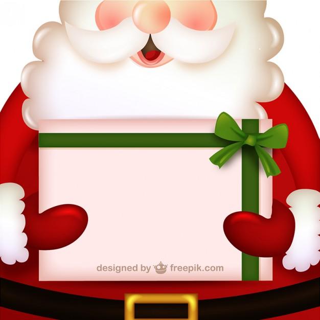 Invitación Navideña en Vectores con Papá Noel