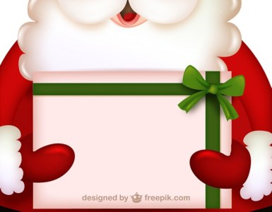 invitacion navidena santa - Invitación Navideña en Vectores con Papá Noel