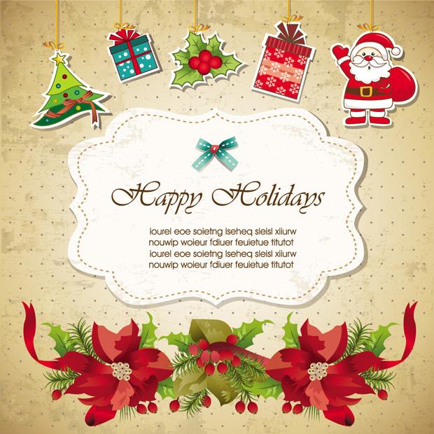 Tarjeta de Invitación para Navidad en Vectores