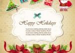 invitacion navidena - Tarjeta de Invitación para Navidad en Vectores