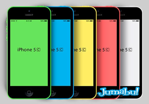 iphone 5s photoshop - iPhone 5C en Photoshop - Mock Up
