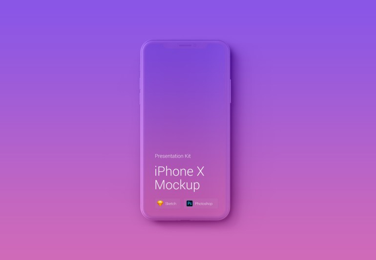 iphone x mauqeta 1024x709 - iPhone X Mockups en PSD para descargar