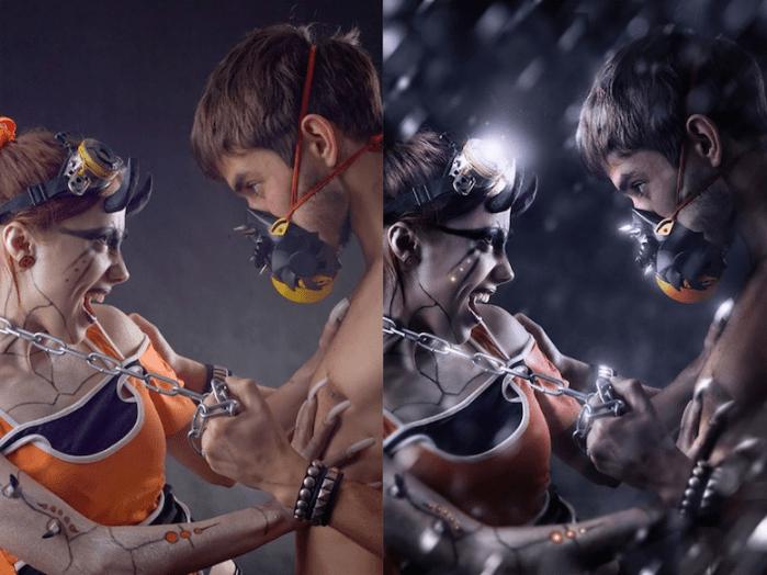 jovenes antes y despues de photoshop - Mujeres, paisajes, niños, antes y después de aplicarle photoshop!