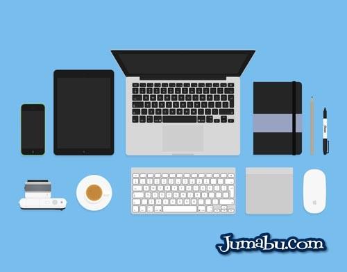 kit disenador vectorizado flat - Vectores de Notebook, Tablet, Teléfono, Mouse, Agenda, etc