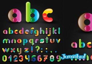 letras alfabeto reondeadas colores - Letras del Alfabeto Redondeadas con Detalles Circulares