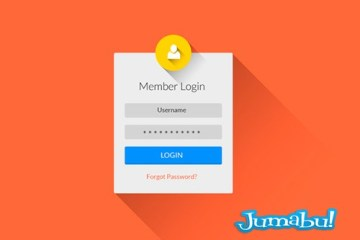 login photoshop plano - Login en PSD con Efectos Plano y Sombra Larga