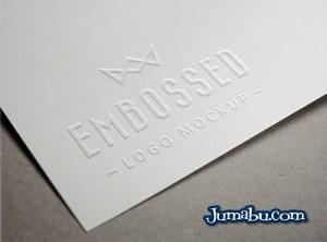 logo platilla relieve papel - Plantilla en 3D para Presentar tu Logo con Efecto Relieve
