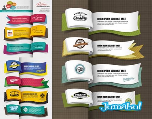 marcadores-libros-vectores-ribbons