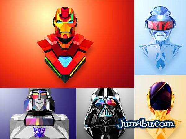 mascaras-vectorizadas-poligonales