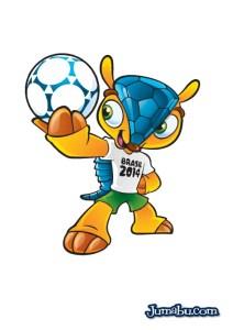 mascota brasil 2014 vectores - Mascota del Mundial Brasil 2014 en Vectores