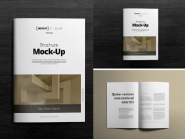 mock up brochure photoshop - Maqueta de un Brochure para editar en Photoshop