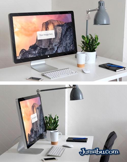 mock up computadora de mesa - Mock Up Pantalla de iMac - Mock Up para Website