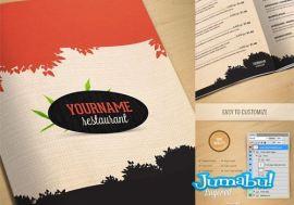 mock up revista menu restaurant - Mock Up de Revistas en Photoshop para Presentar tu Diseño Editorial