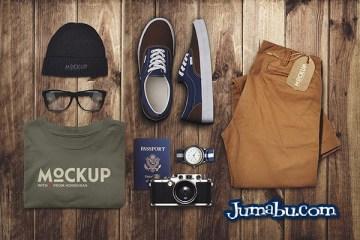 mock up ropa viaje - MockUps - Coloca tu Marca en Ropa de Viaje