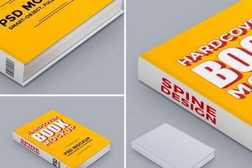 mock up tapa libro - MockUp de Libro Tapa Dura para Descargar