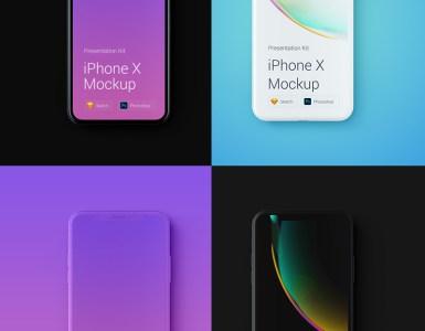 mockup iphone x gratis - iPhone X Mockups en PSD para descargar