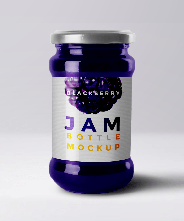 mockup mermelada - Mockup de frascos de mermelada para descargar gratis