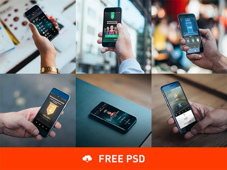 mockup telefonos celulares - MockUps de Teléfonos Celular en Photoshop