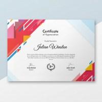 Modelo de certificado en PSD para imprimir