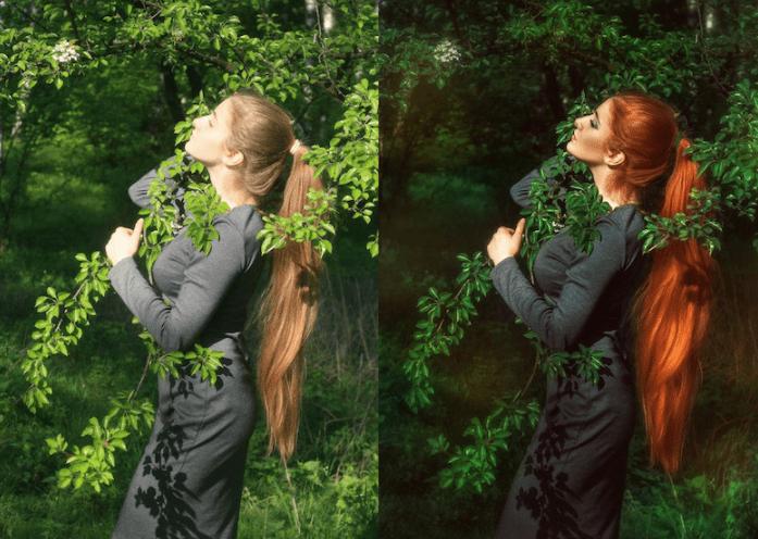mujer posando antes y despues de photoshop - Mujeres, paisajes, niños, antes y después de aplicarle photoshop!