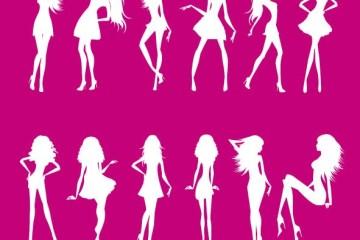 mujeres delgadas vectores - Siluetas de Mujeres Delgadas en Vectores