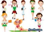 mujeres photoshop editar - Dibujos de Mujeres en Photoshop para Descargar