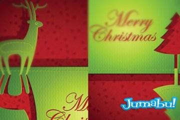 navidad vector - Siluetas de Navidad en Papel Vectorizado