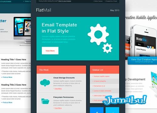 newsletter mock ups psd editable - Plantillas de Email para Editar en Photoshop