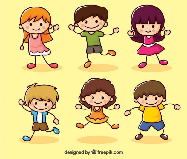 Dibujos de Niños Felices en Vectores | Jumabu