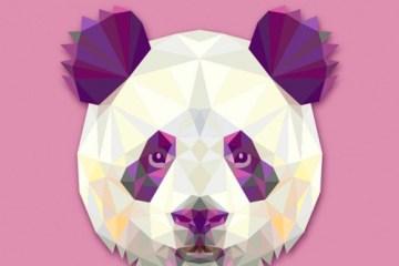 oso panda vectorial - Cabeza de Oso Panda en Vectores Poligonales
