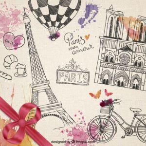 paris antiguo vectorizado - Descarga Gratis Vectores de Paris Vintage