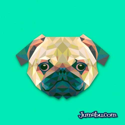 perro vectores free - Cabeza de Perro Vectorizada con Textura Poligonal