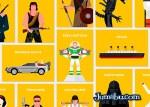 personajes peliculas vectoriales - Personajes de Películas en Vectores Planos