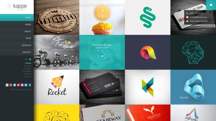 plantillas psd portfolio personal - Plantilla PSD para Crear Portfolio Web