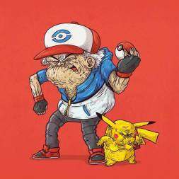 pokemon anciano - Caricaturas de superhéroes ancianos