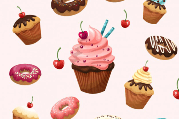 postres pasteles vectores - Postres y Roscas en Vectores