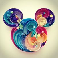 quilling-paper-mickey