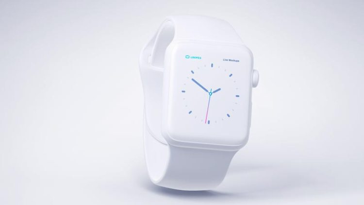 reloj apple blanco mate - Fantásticos Mockups de distintos dispositivos en color blanco mate