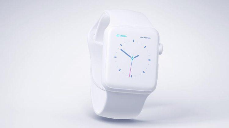 reloj apple blanco mate - Fantásticos Mockups de distintos dispositivos en color blanco mate