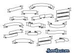 ribbons dibujados a mano - Ribbons Dibujados a Mano en Vectores
