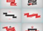 ribbons planos vectorizados - Ribbons en Vectores con Efecto Plano